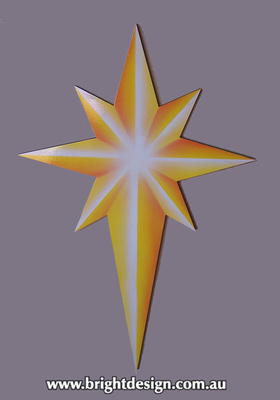 10-65 M-16 Aw Joy to the world star Traditional Christmas Star Outdoor Christmas Display Custom Airbrushed Christmas  Decoration by Bright Design Studio