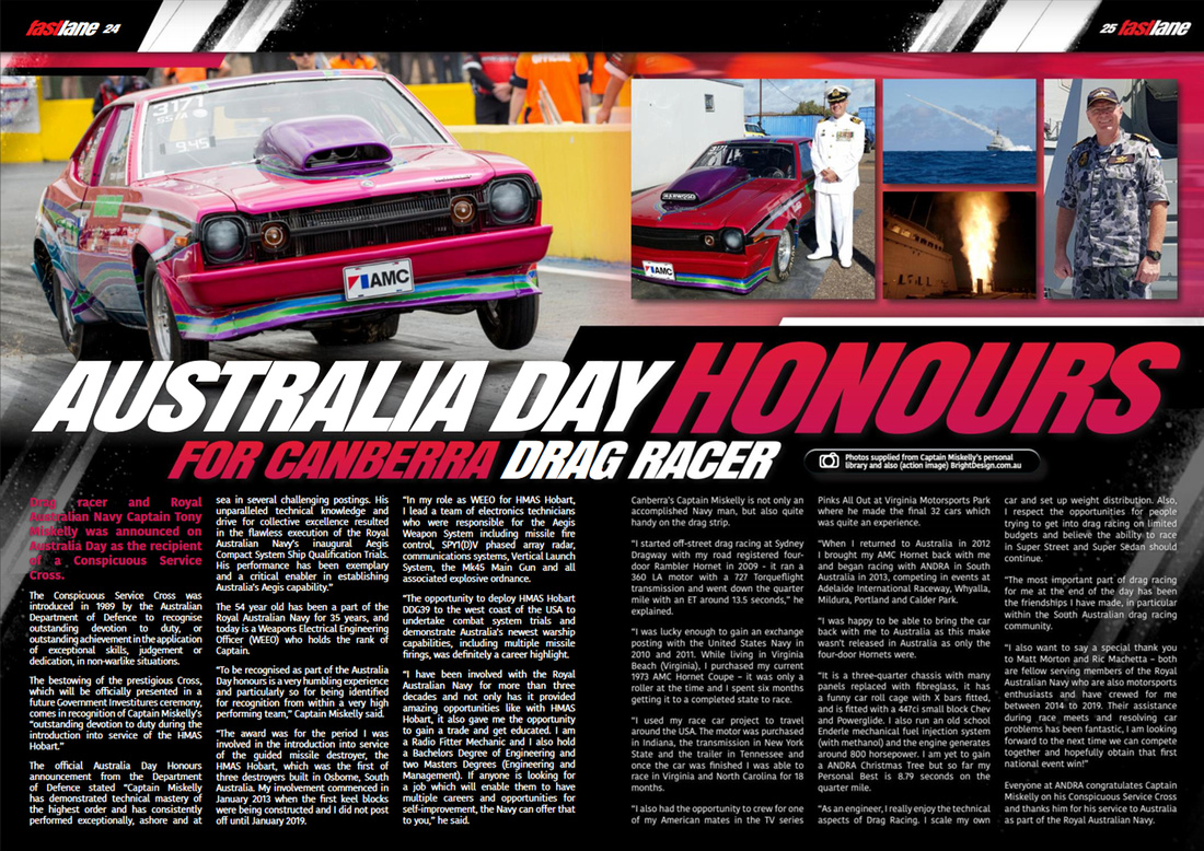 Fastlane Issue 30 March 2020 editorial of Wombat Racing Tony Miskelly