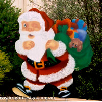 Winking Santa Outdoor Christmas Decoration for Commercial and Home Christmas Displays By Bright Design Airbrushing Studio