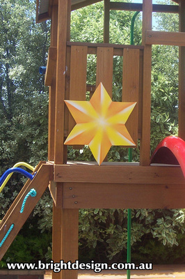 10-68 M-17 Star Outdoor Christmas Display Custom Airbrushed Christmas  Decoration by Bright Design Studio