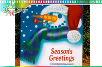 6-75 SM-09 W Pipe Smowman Airbrushed Outdoor Christmas Cut Out