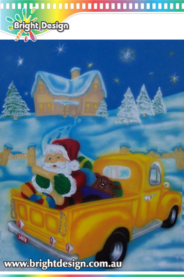 8-50 TR-09 WMa Santas Workshop Christmas Scene Outdoor Christmas Display Individually Handmade