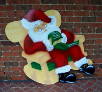 Rocking Chair Santa Outdoor Christmas Decoration for Commercial and Home Christmas Displays By Bright Design Airbrushing Studio