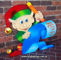 4- E-03 Writing List Elf Outdoor Christmas Decoration for Your Christmas Display at home
