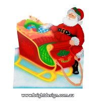 1- SS-05 S Z www Santa Sleigh Outdoor Christmas Display for Home Christmas Decorating