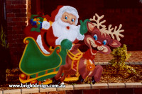 1 (SS-01) o www Santa and Reindeer Handmade Garden Outside Christmas Decoration
