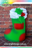 10-60 M-11 GW Green Christmas Stocking Outdoor Christmas Display Custom Airbrushed Christmas  Decoration by Bright Design Studio