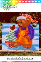 7-10 B-04 WM Christmas Bear Outdoor Christmas Display Custom Airbrushing