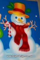 6-30 SM-06 UC3w Snowman from design 1 Outdoor Christmas Displays