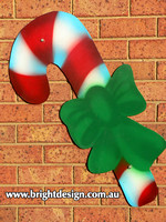 10-50 M-09 w Traditional Christmas Candy Cane Outdoor Christmas Display Custom Airbrushed Christmas  Decoration by Bright Design Studio