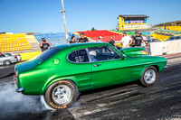 Fast Friday @ Calder Park Drag Racing Friday 9 February 2018  (100508)   CAPRI GREEN