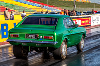 Fast Friday @ Calder Park Drag Racing Friday 9 February 2018  (100513)  CAPRI GREEN