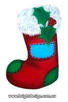 10-60 M-11 Red Christams Stocking Outdoor Christmas Display Custom Airbrushed Christmas  Decoration by Bright Design Studio