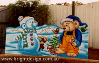 7-20 B-11 Christmas Snow Bears with Christmas Tree for Outside Christmas Decorating at Home