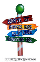 10-45 M-07 WM Multi  Sign Christmas Signage Outdoor Christmas Display Custom Airbrushed Christmas  Decoration by Bright Design Studio