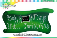 10- M-24 c WM White  background Outdoor Christmas Display Custom Airbrushed Christmas  Decoration by Bright Design Studio