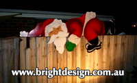 2- S-02 CG WM Lazy Santa Outdoor Christmas Display Custom Airbrushed by Bright Design (2)