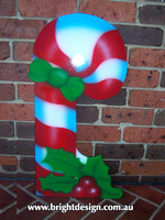 10-55 M-10 Christmas Candy Cane Outdoor Christmas Display Custom Airbrushed Christmas  Decoration by Bright Design Studio
