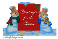 6-70 SM-04 W Snowman Greetings Signage Outdoor Christmas Displays