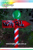 10-35 M-06 wm North Pole Sign Outdoor Christmas Display Custom Airbrushed by Bright Design Studio