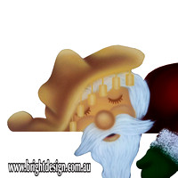 2- S-02 OZ CU z NEW Swaggie Santa Outdoor Christmas Decoration