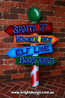 10-40 M-07 Custom Airbrushed Multi sign for Book Street outdoor Christmas Display by Bright Design