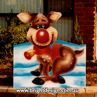 1 (SS-02) b www Reindeer from Dog Santa Sleigh Handmade Christmas Cut Out Custom Airbrushing