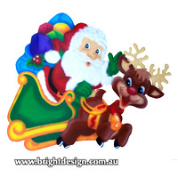 1 (SS-01) a www Santa and Reindeer Outdoor Christmas Decorationsfor Home Garden Christmas Display