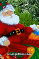 1- SS-03 h www Santa Christmas Sleigh Outdoor Christmas Decorations n Cut Outs for Home Displays