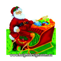 1- SS-03 Za www Santa Christmas Sleigh Outdoor Christmas Decorations n Cut Outs for Home Christmas
