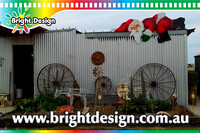 2- S-02 CG WM Lazy Santa Outdoor Christmas Display Custom Airbrushed by Bright Design