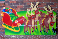 1- SS-04 g www Santa Sleigh n Christmas Reindeers Outdoor Christmas Decorations for Home Displays