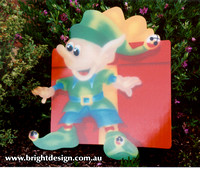 4- E-11 Hiding Elf Outdoor Christmas Display Custom Airbrushed by Bright Design