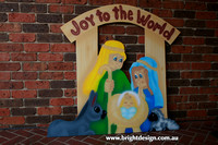 9-20 TD-01 Dw Traditonal Christmas Nativity Scene Outdoor Christmas Decoration custom Airbrushed  by Bright Design