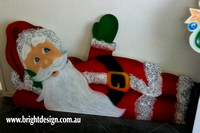 2- S-01 B www Waving Santa Outdoor Christmas Cut Out Personalised for Christmas Display in Sydney NSW