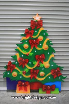8-30 TR-04 NH Decorated Christmas Tree Outside Christmas Display for Your Home Christmas Decorating