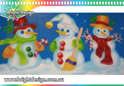 6-55 SM-06 AWM Snowman from design 1 Outdoor Christmas Displays
