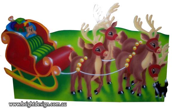 Outdoor Christmas Sleigh.Bright Design 1 Santa Sleigh Outdoor Christmas Displays