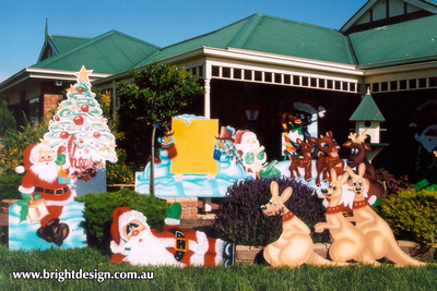 Reindeer Outdoor Christmas Display Available at the Bright Design Christmas Showroom at Pakenham