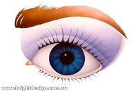 Fine Art Airbrush Eye Illustration Custom Airbrushed by Bright Design Airbrush Studio www