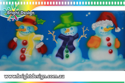 6-60 SM-07 WM Snowman from design 2 Outdoor Christmas Displays