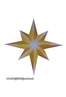 10-60 M-15 Z Christmas Star Outdoor Christmas Display Custom Airbrushed Christmas  Decoration by Bright Design Studio