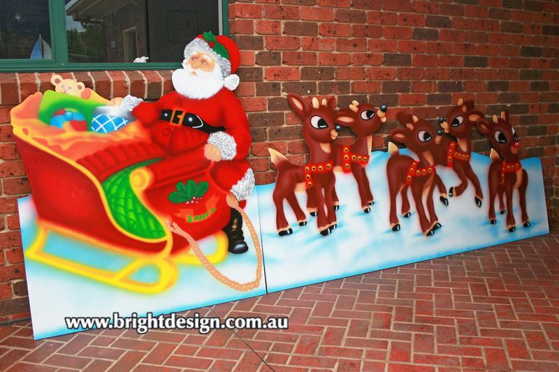 Bright Design Section 01 Santa Sleigh Outdoor