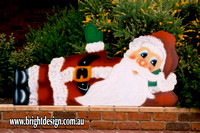 2- S-01 h www Waving Santa Outdoor Christmas Cut Out Custom Airbrushe